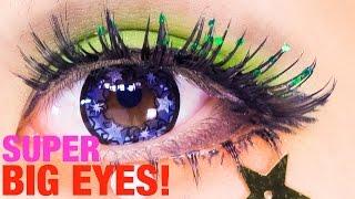 getlinkyoutube.com-SUPER BIG EYES makeup TUTORIAL Base & Eyeline by Kurebayashi Japanese Kawaii Model| 紅林大空超デカ目メイク
