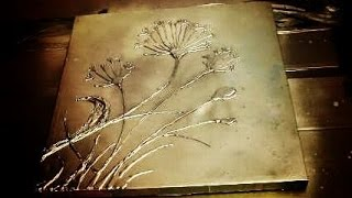 getlinkyoutube.com-How to make 3D TEXTURED FLOWERS on a Painting with HOT GLUE