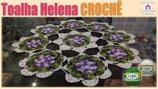getlinkyoutube.com-Toalha Helena de mesa em Crochê - Professora Simone
