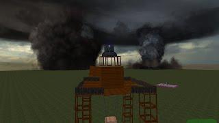 getlinkyoutube.com-Wooden Base Hit By Tornado's! Garrys Mod Tornado Mod!