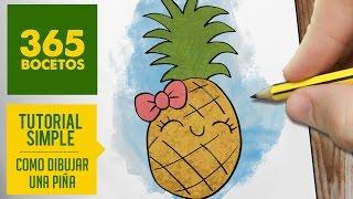 getlinkyoutube.com-COMO DIBUJAR UNA PIÑA KAWAII PASO A PASO - Dibujos kawaii faciles - How to draw a pineapple