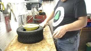 getlinkyoutube.com-Tire Change Garden Tractor.