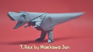 getlinkyoutube.com-Origami T-Rex Dinosaur  by Maekawa Jun - Yakomoga Origami tutorial