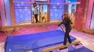 getlinkyoutube.com-Gabby Douglas Teaches Wendy How to Walk the Balance Beam