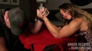 getlinkyoutube.com-Epic Mixed Armwrestling Match Neither Wants To Lose