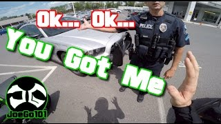 getlinkyoutube.com-Pulled over by Douche Bag Cop / BMW i8 / Nice Motorcycle ZX6R