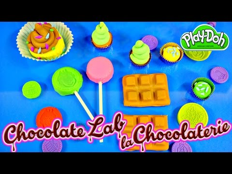 Play Doh Chocolate Lab Popsicle Candy Bars Playdough Cupcakes Plastilina Juguetes