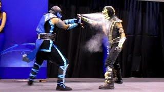 Scorpion vs Sub Zero [Cosplay Dual] [MASGAMERS]
