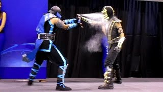 getlinkyoutube.com-Scorpion vs Sub Zero [Cosplay Dual] [MASGAMERS]