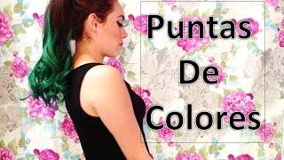 getlinkyoutube.com-Puntas de Colores   Mi cambio de Look   DIY