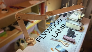 getlinkyoutube.com-Plywood LED Desk Lamp You Can Make in One Day!