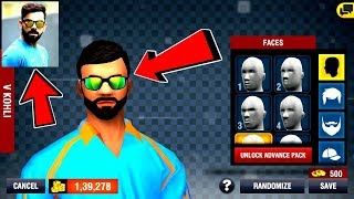 💥How to create VIRAT KOHLI'S Face in 💥Wcc2 Cricket Game || World Cricket Championship 2 ||