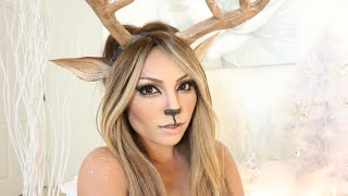 getlinkyoutube.com-Reindeer Girl Makeup Tutorial