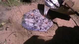 getlinkyoutube.com-52 kg (114 lb) Aluminium Casting of a Giant Brown Bull Ant Nest - Myrmecia brevinoda - 2015/03/07