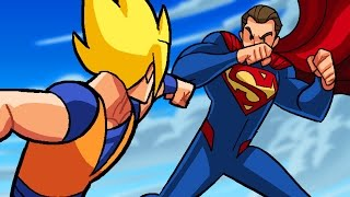 getlinkyoutube.com-Dragon Ball Z vs DC Superheroes - What If Battle - DBZ Parody
