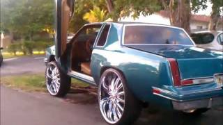 getlinkyoutube.com-87' Cutlass Squatin on 28's, Lambo Doors, Gator Guts