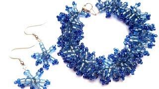 getlinkyoutube.com-PandaHall Jewelry Making Tutorial Video-How to Make Anemone Bracelet and Earring Set
