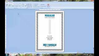 Cara Membuat Cover Makalah Di Microsoft Office Word 2007