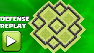 Clash of Clans - th6 Hybrid base / with second 2 air defense/ANTI GIANT HEALER/with defense replay