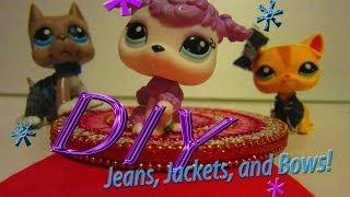 getlinkyoutube.com-DIY: LPS Cloth (denim), Jacket, and Bow [NO SEW]