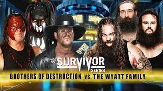 getlinkyoutube.com-WWE Survivor Series 2015 - The Undertaker & Kane vs The Wyatt Family - Survivor Series 2015 Match