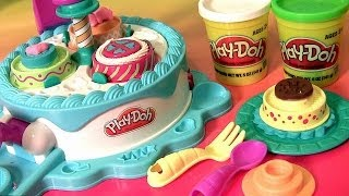 getlinkyoutube.com-Play Doh Cake Makin' Station Bakery Playset by Sweet Shoppe Kitchen Baking Toy - Fábrica de Bolos
