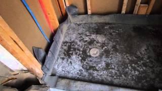 getlinkyoutube.com-HUGE TILE MISTAKE  (Contractor pours CONCRETE shower pan ! )