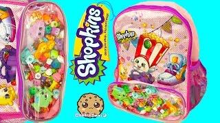 getlinkyoutube.com-Unboxing 5 Shopkins Pack Each with Blind Bags in Surprise Backpack - Cookieswirlc Video