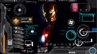 How To Get Iron Man Rainmeter Skin-Link in the Description