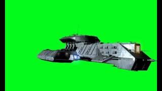 getlinkyoutube.com-Stargate Starship X-305 Green screen flyby 1