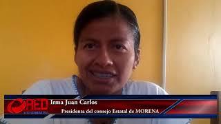 Actitud irresponsable e inmadura de Ángel Domínguez: Irma Juan Carlos