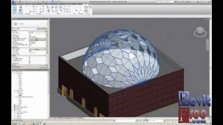 getlinkyoutube.com-How to make dome curtain roof and dome glass in revit
