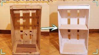 getlinkyoutube.com-¡Haz un mueble con una caja de fruta! #DIY