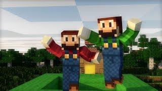 getlinkyoutube.com-[Minecraft Animation] ¿Qué pasaría si Mario jugase a Minecraft?