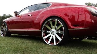 getlinkyoutube.com-Candy Red Bently on 24 Forgiatos at Fall Fest 2013
