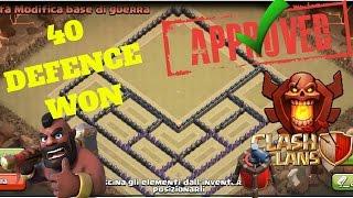getlinkyoutube.com-Clash of Clans TH9 BEST TROPHY \ WAR BASE - speed build - Anti 3 stars - 40 DEFENCE WON