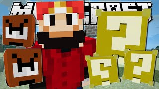 Minecraft | SUPER MARIO!! (Lucky Blocks, Goombas & More!) | One Command Creation