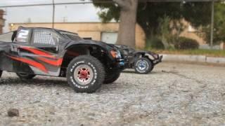 getlinkyoutube.com-1/8th Nitro vs Electric RC Madcode RC Car