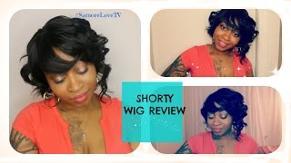 getlinkyoutube.com-WIG REVIEW : Outre Shorty Wig Review | Curly Bob With Bangs