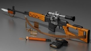 Снайперская винтовка Драгунова (СВД) /  Dragunov sniper rifle