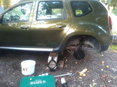 Renault Duster Замена втулок и стоек стабилизатора