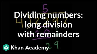 Division 3: More long division and remainder examples