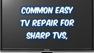 getlinkyoutube.com-How to fix Sharp LCD TV LC- no hdmi signal, no power, no audio sound