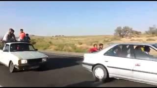 تصادف وحشتناک موتورسیکلت با هجدهچرخ
