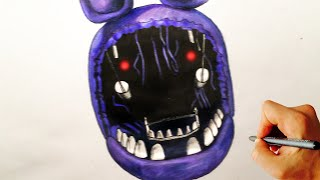 getlinkyoutube.com-How to draw withered Bonnie jumpscare from Five Nights at Freddy's FNAF drawing lesson
