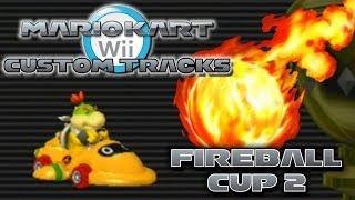 getlinkyoutube.com-Mario Kart Wii Custom Tracks - Fireball Cup 2
