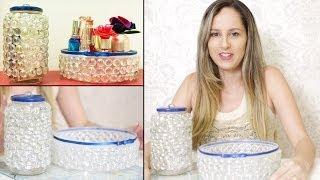 getlinkyoutube.com-Como Fazer Artesanato com Potes Reciclados de Plástico e Vidro - Bandeja de Pedra