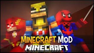 getlinkyoutube.com-Minecraft Mod:Super Heróis da Marvel e DC com Seus Poderes (Homem Aranha,Wolverine) Super Heroes Mod