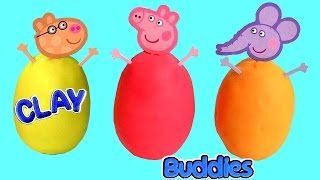 getlinkyoutube.com-Surprise Clay Buddies Peppa Pig Blind Bags Play Doh Huevos Sorpresa Frozen Fashems Olaf