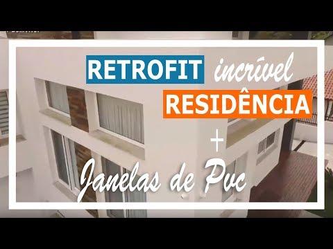Retrofit / Reforma incrível de uma Residência com Janelas de PVC Weiku
